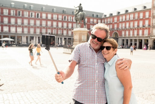 Spain Tour Happy Travelers Selfie