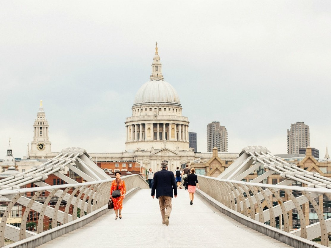 Millennium Bridge & St. Paul's Cathedral, London