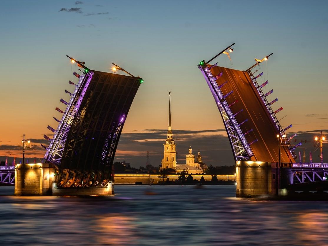 Drawing of the Bridges, St. Petersburg